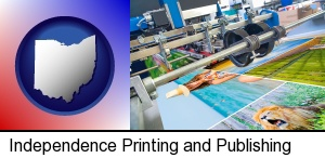 Independence, Ohio - a press run on an offset printer