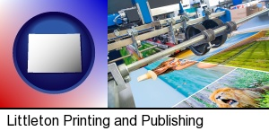 Littleton, Colorado - a press run on an offset printer