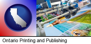 Ontario, California - a press run on an offset printer