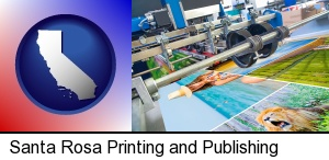 Santa Rosa, California - a press run on an offset printer